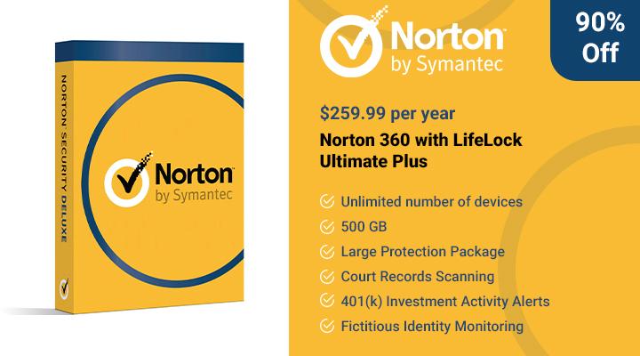 Norton 360 avec l'offre LifeLock Ultimate Plus.