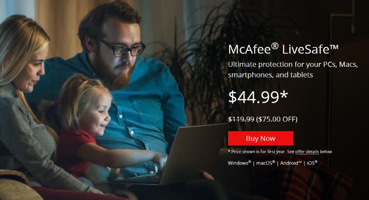 McAfee LiveSafe Plan.