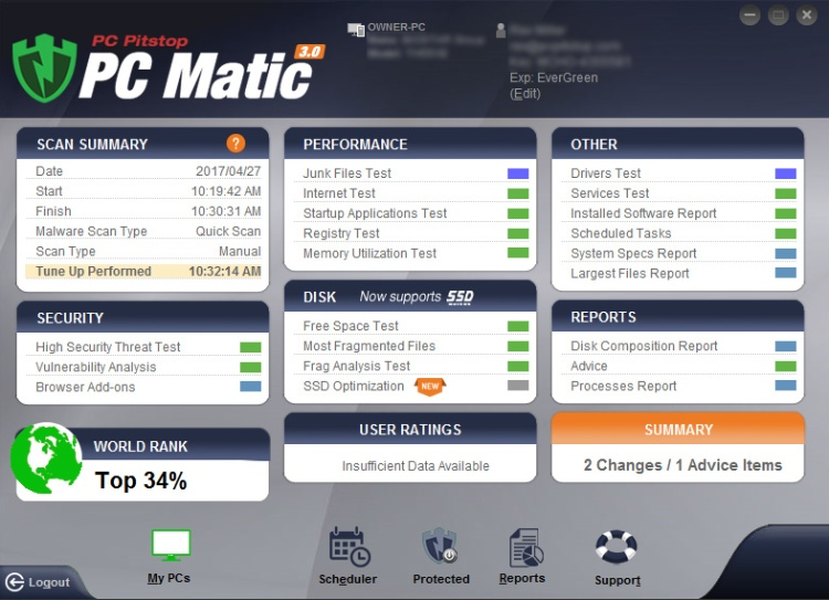 PC Matic Features.