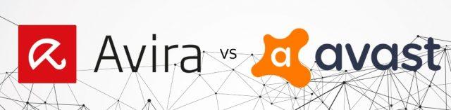 Comparaison entre Avira et Avast Antivirus.