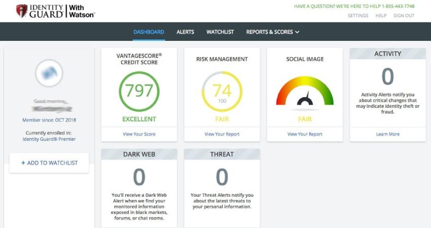 Révision de l'Identiry Guard, protection contre le vol d'identité, outils de surveillance du crédit