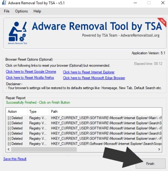 adware cleaner, meilleur adware cleaner, outil de suppression de TSA, adwcleaner