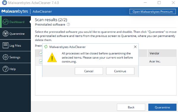 nettoyant adware, meilleur adwcleaner, outil de suppression de malwarebytes, adwcleaner