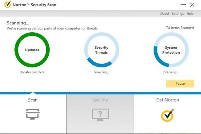 Analyse antivirus Norton, protection contre les logiciels malveillants, performances du système.