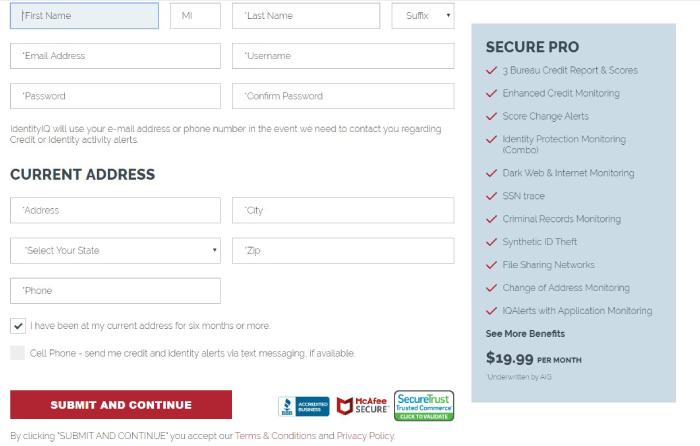 Page de connexion IdentityIQ Secure Pro.
