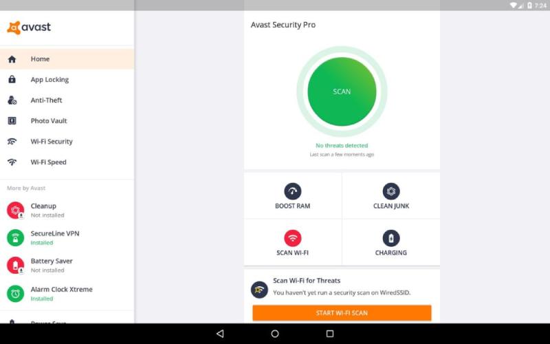 Fonctionnalités payantes d'Avast Mobile Security Pro.