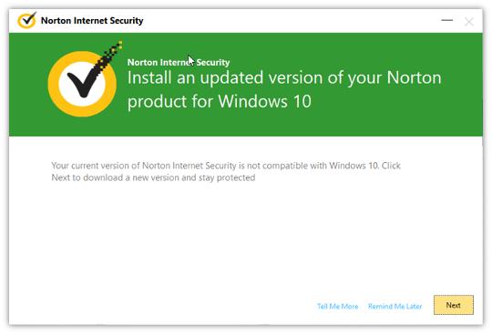 Installation de l'antivirus Norton.