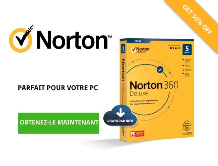 Offre de Norton Antivirus.