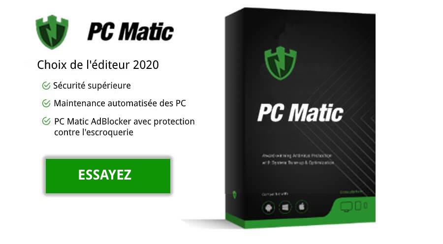 PC Matic Choix de l'éditeur 2021.